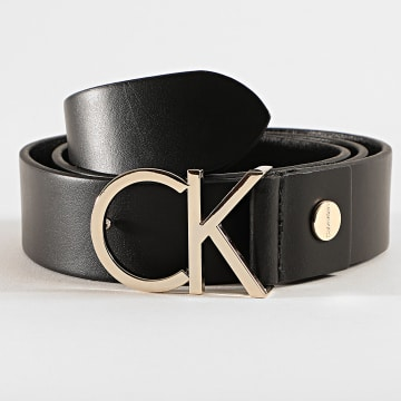 Calvin Klein - Ceinture Adjustable Logo 2141 Noir Doré