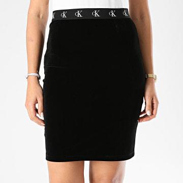 Calvin Klein - Jupe Femme Velvet CK Logo 4952 Noir