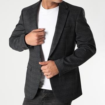 Indicode Jeans - Indicode Jeans -Blazer A Carreaux Oscar Gris Anthracite