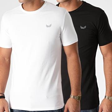 Kaporal - Lot De 2 Tee Shirts Rift Noir Blanc