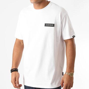 Napapijri - Tee Shirt Patch A4EJD Blanc