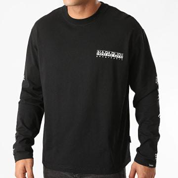 Napapijri - Tee Shirt Manches Longues Pasilan A4EJF Noir