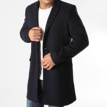 Only And Sons - Manteau Julian Solid Wool Bleu Marine