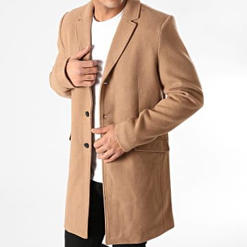 Only And Sons - Manteau Julian Solid Wool Camel