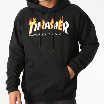 Thrasher - Sweat Capuche Flame Mag 144569 Noir