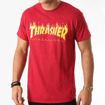 Thrasher - Tee Shirt Flame Logo 144817 Rouge