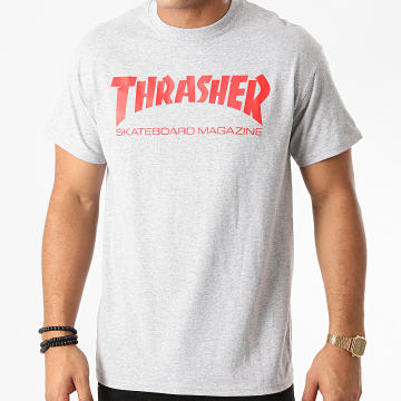 Thrasher - Tee Shirt Skate Mag 110260 Gris Chiné