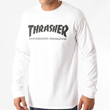 Thrasher - Tee Shirt Manches Longues Skate Mag 110107 Blanc