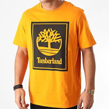 Timberland - Tee Shirt Stack Logo A2AJ1 Orange Noir