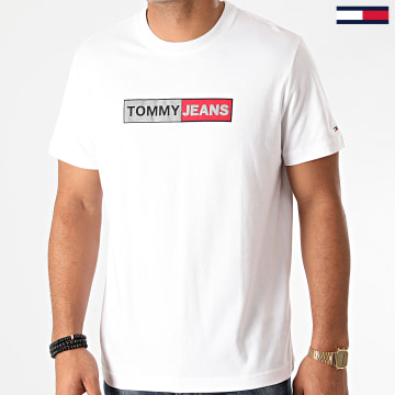 Tommy Jeans - Tee Shirt Metallic Graphic 9789 Blanc