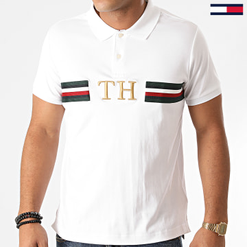 Tommy Hilfiger - Polo Manches Courtes Monogram 4171 Blanc