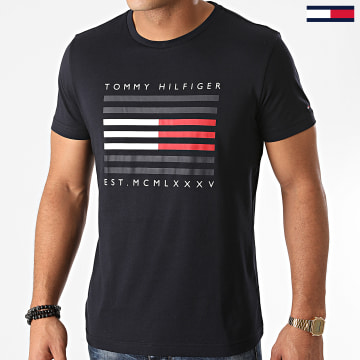 Tommy Hilfiger - Tee Shirt Corp Flag Lines 5334 Bleu Marine
