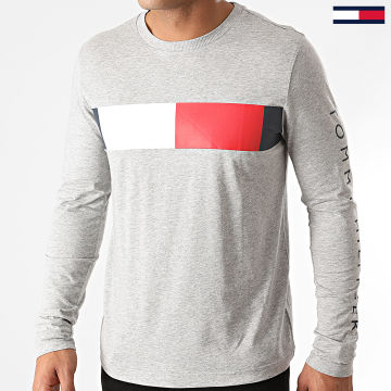 Tommy Hilfiger - Tee Shirt Manches Longues Branded Corp 5337 Gris Chiné