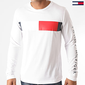 Tommy Hilfiger - Tee Shirt Manches Longues Branded Corp 5337 Blanc