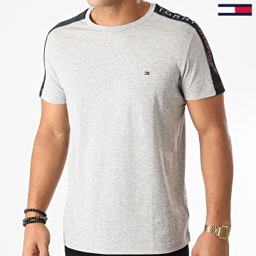 Tommy Hilfiger - Tee Shirt A Bandes Sleeve Tape 5540 Gris Chiné