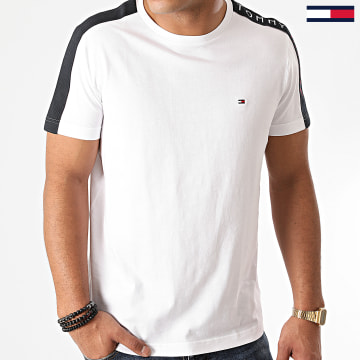 Tommy Hilfiger - Tee Shirt A Bandes Sleeve Tape 5540 Blanc