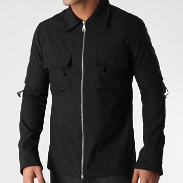 Ikao - Veste Chemise Zippée LL134 Noir