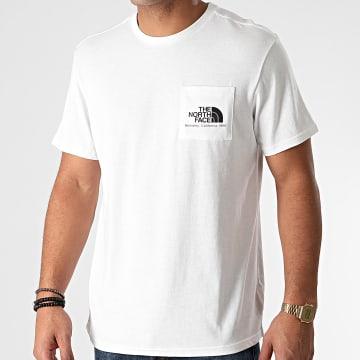 The North Face - Tee Shirt Poche Berkeley California A4M92 Blanc