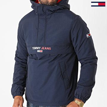 Tommy Jeans - Veste Outdoor A Capuche Solid Popover 8760 Bleu Marine