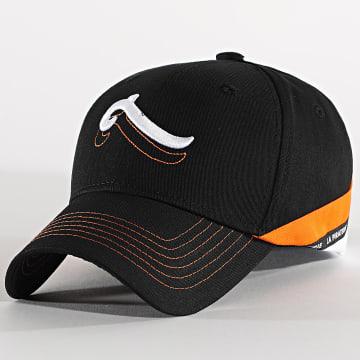 La Piraterie - Casquette Sigle Double Noir Orange