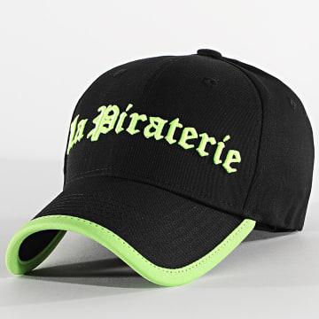 La Piraterie - Casquette Fluo Noir Vert
