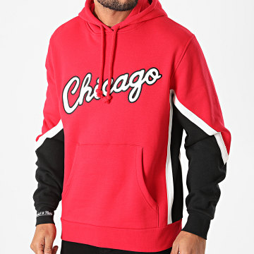 Mitchell and Ness - Sweat Capuche Chicago Bulls FPHDDF18026 Rouge Noir