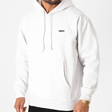 Obey - Sweat Capuche Bold 112842349 Gris Chiné