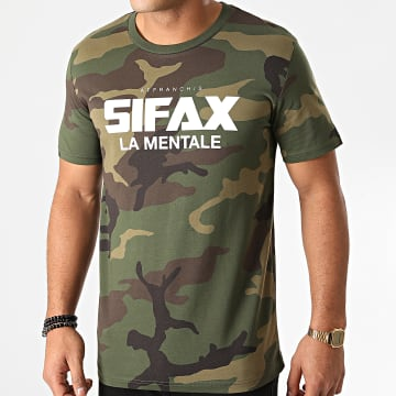 Sifax - Tee Shirt La Mentale Camouflage Kaki