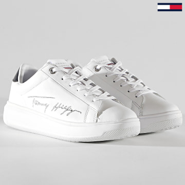 Tommy Hilfiger - Baskets Femme Signature Tommy Leather 5219 White