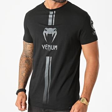 Venum - Tee Shirt Logos Noir Gris
