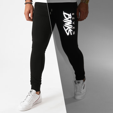 7 Binks - Pantalon Jogging Logo Reflective Noir