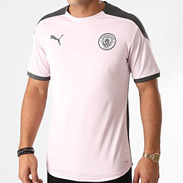 Puma - Tee Shirt De Sport Manchester City 757878 Rose Gris Anthracite