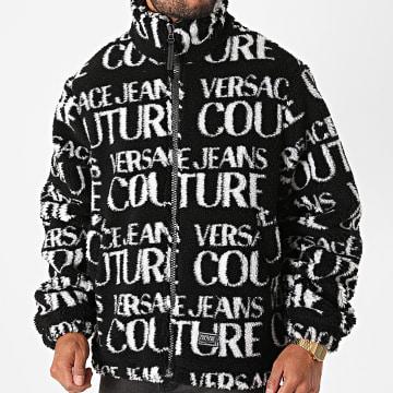 Versace Jeans Couture - Veste Zippée Fourrure Logo Mania GZB909 Noir