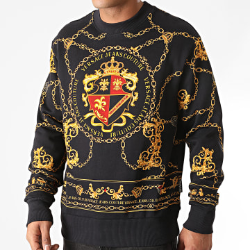 Versace Jeans Couture - Sweat Crewneck Round Chain Shield Noir Renaissanc