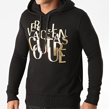Versace Jeans Couture - Sweat Capuche Brushed Fleece Noir
