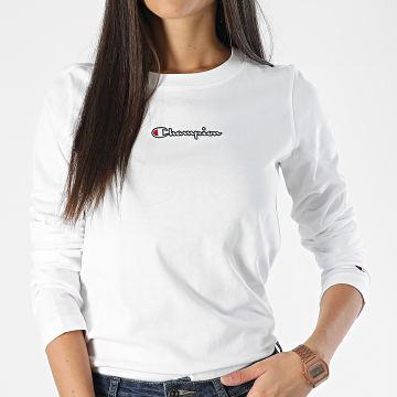 Champion - Tee Shirt Manches Longues Femme 113196 Blanc