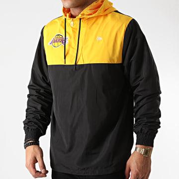 New Era - Coupe-Vent Col Zippé Los Angeles Lakers Colour Block 12553336 Noir Jaune