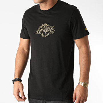 New Era - Tee Shirt Los Angeles Lakers Chain Stitch 12553344 Noir