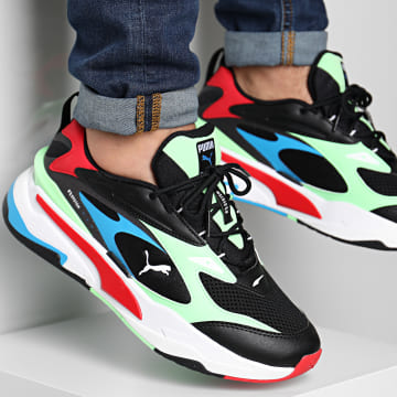 Puma - Baskets RS Fast 380562 Black Electric Green High Risk Red