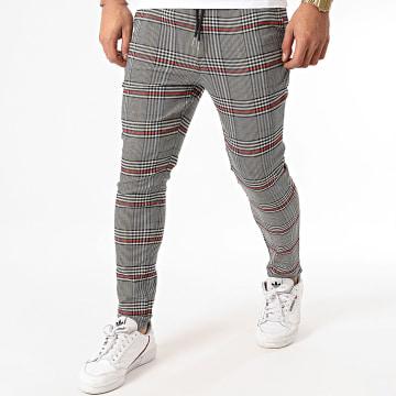 Uniplay - Pantalon Carreaux Avec Bande UP-T3559 Beige