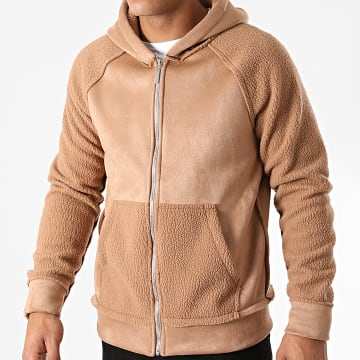 Uniplay - Sweat Zippé Capuche SH-18 Camel