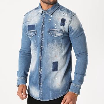 Uniplay - Chemise En Jean 394 Bleu Wash