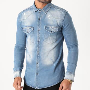 Uniplay - Chemise En Jean 395 Bleu Wash