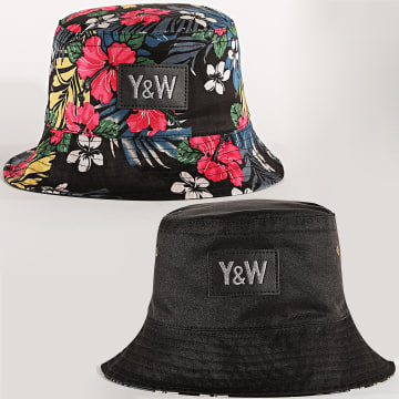 Y et W - Bob Réversible Flower Noir Floral