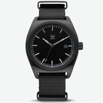Adidas Originals - Montre Process W2 Z09-2341 All Black Gunmetal