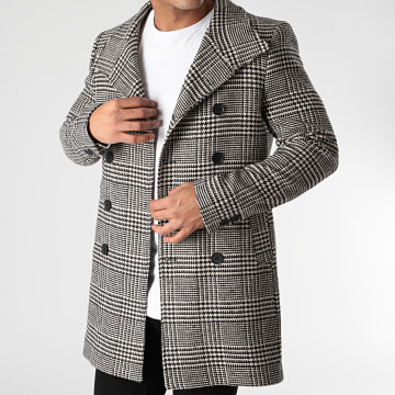 Classic Series - Manteau A Carreaux 6084 Noir Ecru