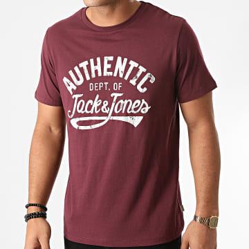 Jack And Jones - Tee Shirt Jeanswear Bordeaux