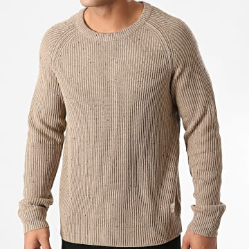 Jack And Jones - Pull Fuel Beige Chiné