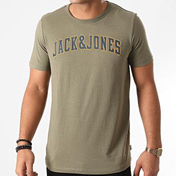 Jack And Jones - Tee Shirt Crossing Vert Kaki