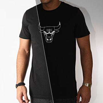 New Era - Tee Shirt Chicago Bulls Réfléchissant Print 12553252 Noir